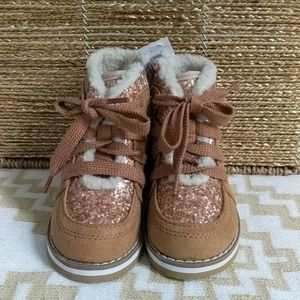 GAP Toddler Girls Size 7 Tan Lace Up Boots